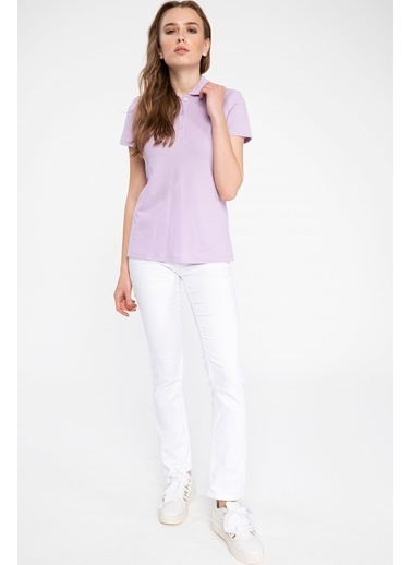DeFacto Basic Polo T-shirt Mor
